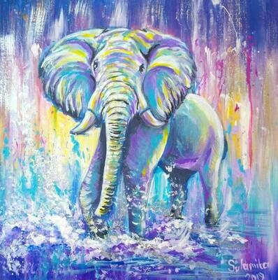 Elephant Water Pipe Art