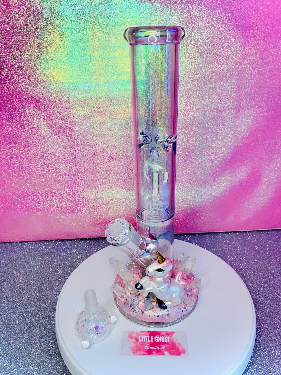 """Princess Gwenevere"" Iridescent Water Pipe"