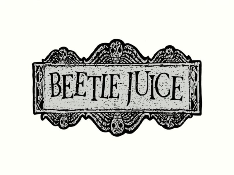 Beetlejuice Water Pipe Art
