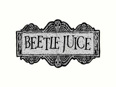 Beetlejuice Water Pipe Art
