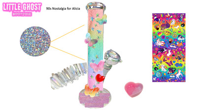 90s Aesthetic Water Pipe Art *RESERVED* for Alicia