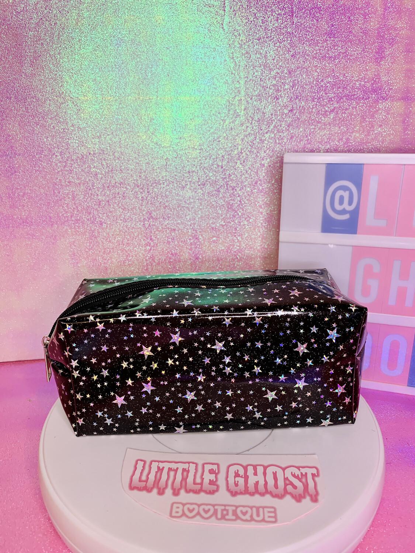 Holographic Stars Stash Bag