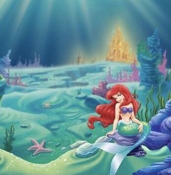 """Little Mermaid 16"""" Beaker"""