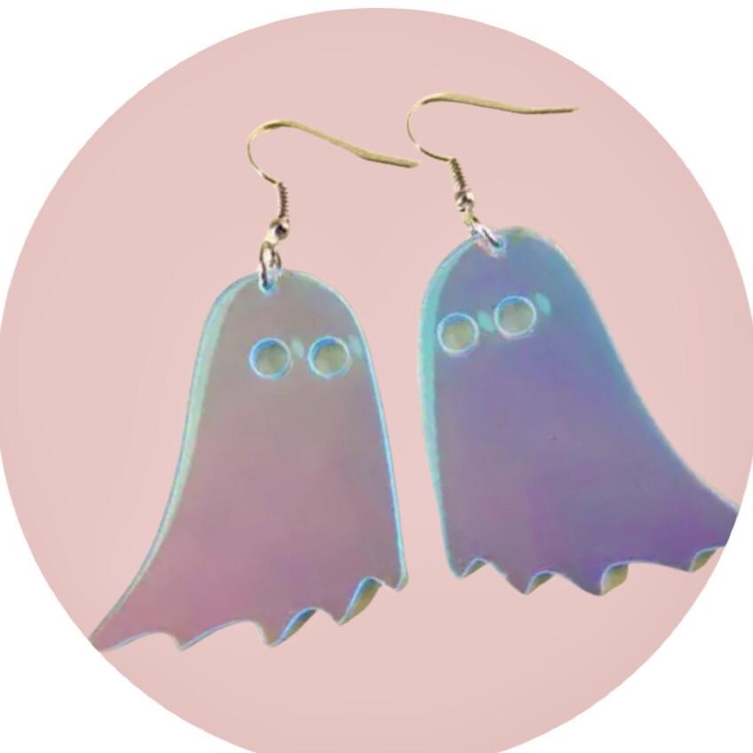 Little Ghost Iridescent Drop Earrings