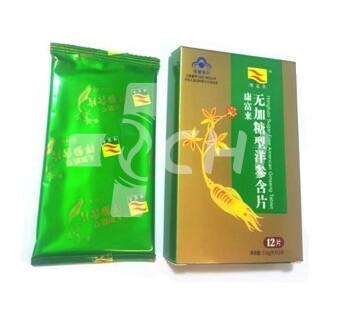 Таблетированный Американский женьшень без добавок Hongfuloi shugar free American Ginseng tablets