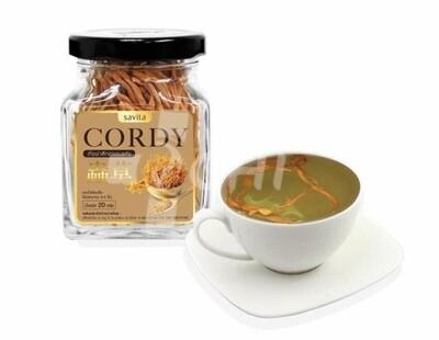 100% натуральные стебли высушенного cordyceps militaris (20 г/ Savita / Таиланд)