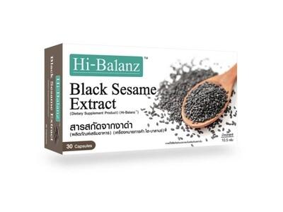 Экстракт Семян Черного Кунжута Hi-Balanz для роста волос, похудения и женского здоровья (30 капсул)