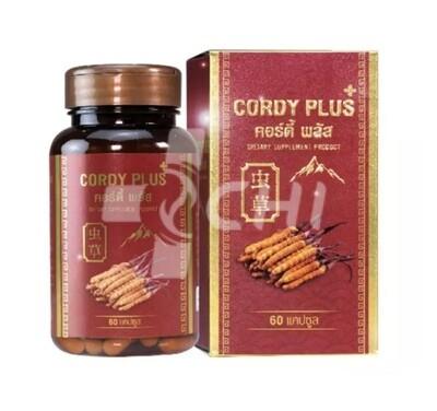 Cordyceps Sinesis + гриб Рейши в капсулах 60 шт / 500 мг (Cordy Plus 1, Таиланд)
