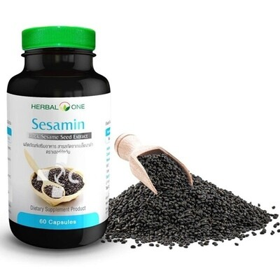 Капсулы Экстракт семян черного кунжута замедляют старение организма (Sesamin Black Sesame Seed Extract Herbal One)