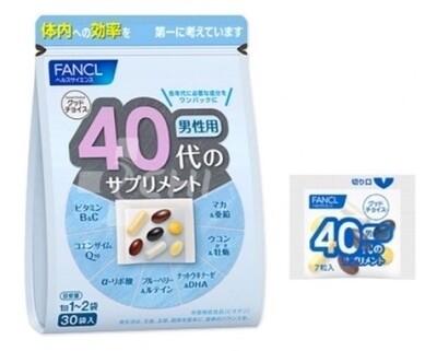 Комплекс витаминов и минералов (FANCL) для мужчин старше 40 лет