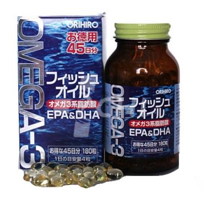 Капсулы рыбий жир / Омега-3 (Orihiro) японский БАД