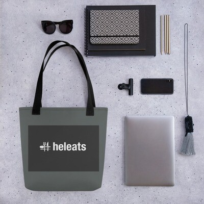 #heleats tote bag