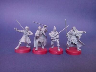 4 JEDIs : Mace Windu,Plo Koon,Ki-Adi-Mundi,Qui-Gon Jinn.