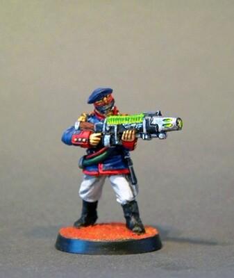 Plasma Gun. Iron Guard ( Proxy Mordian Guard )