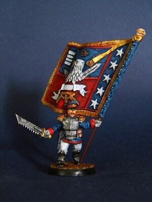 Standard bearer Iron Guard ( Proxy Mordian Guard )