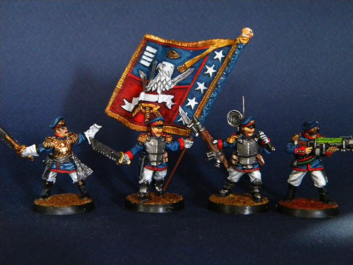 Command Squad  Iron Guard ( Proxy Mordian Guard )