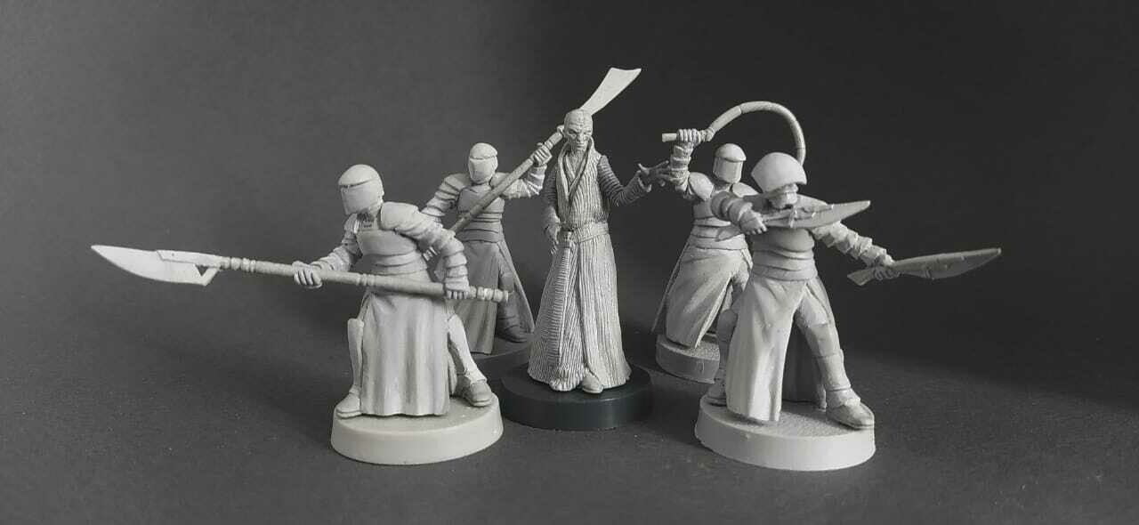 Supreme leader Snoke & Elite Praetorian Guard. set 5 miniatures.