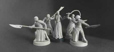 Supreme leader Snoke & Elite Praetorian Guard. set 5 miniatures.