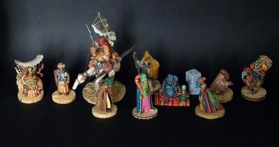 Set of civilians.10 miniatures and 1 animal