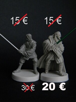 Qui Gon Jin and Padawan Obi Wan Kenobi