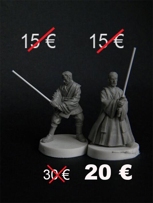 Set of 2 Jedi. Youth and Wisdom