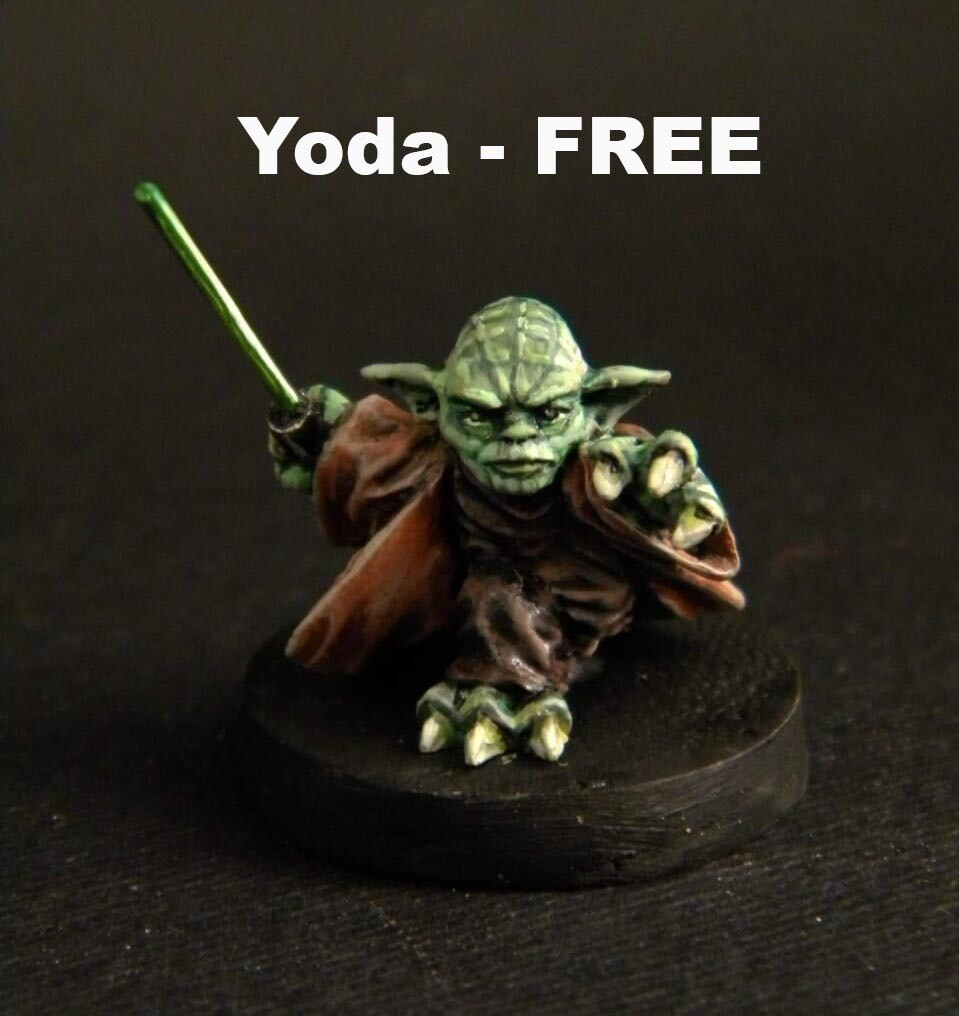 Master Yoda. FREE. Yoda is free with purchases of goods worth 30 euros. PLEASE READ THE TERMS AND CONDITIONS CAREFULLY