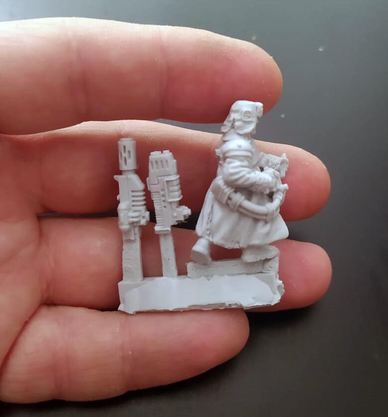 Ice warrior with Plasma Gun №5  (Proxy Valhalla ) Two types of weapons, plasma and melta