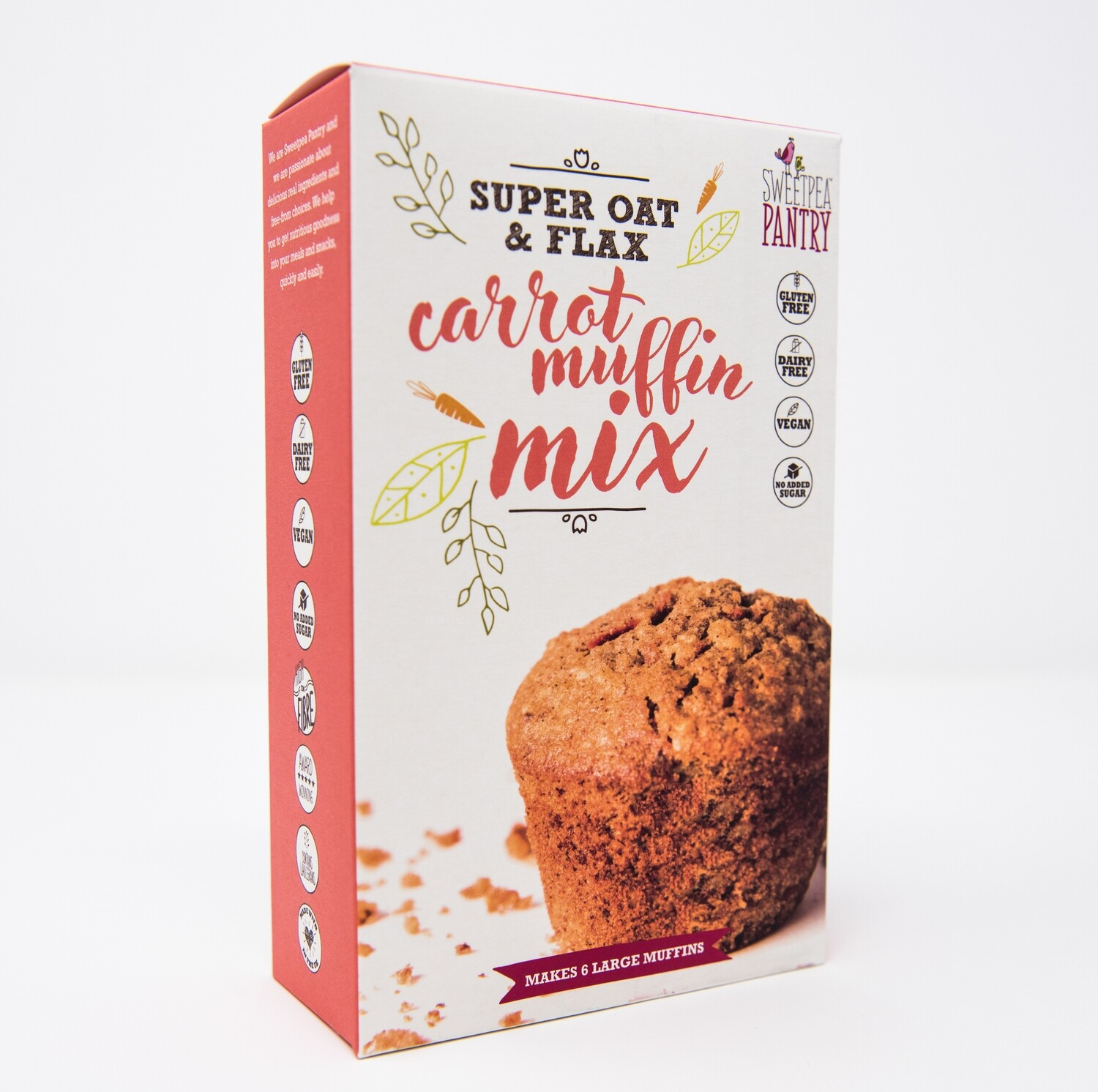 Carrot Muffin Mix with oats and flax (gluten-free)