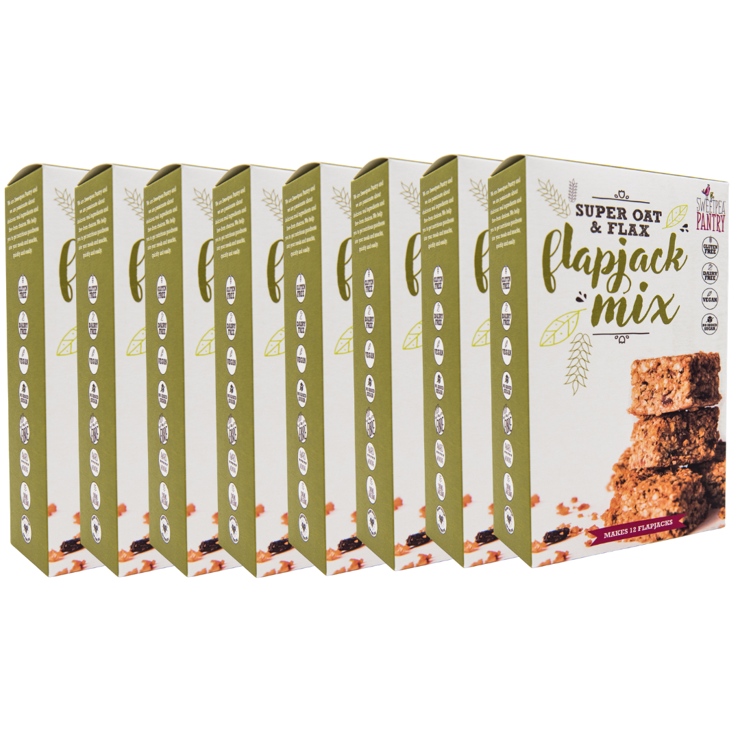 Case of 8 - Flapjack Super Oat Mix with quinoa and flax (gluten-free) FREE Shipping