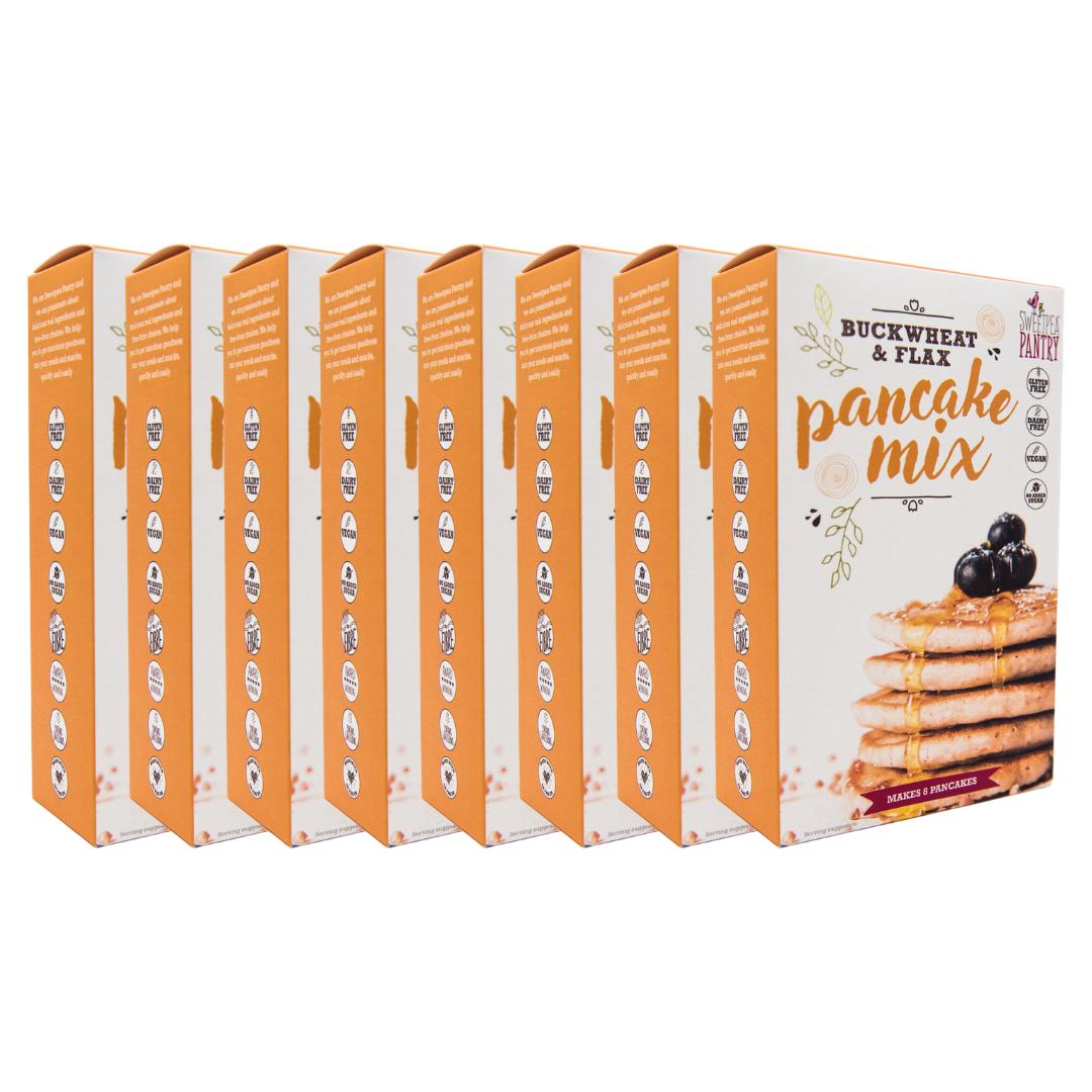 Case of 8 - Pancake Mix with buckwheat, teff and flax (gluten free) FREE Shipping
