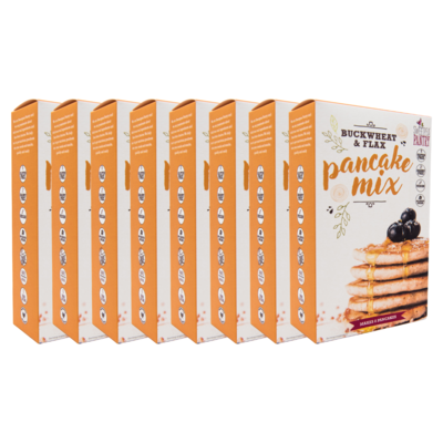 Case of 8 - Pancake Mix with buckwheat, teff and flax (gluten free) FREE Shipping