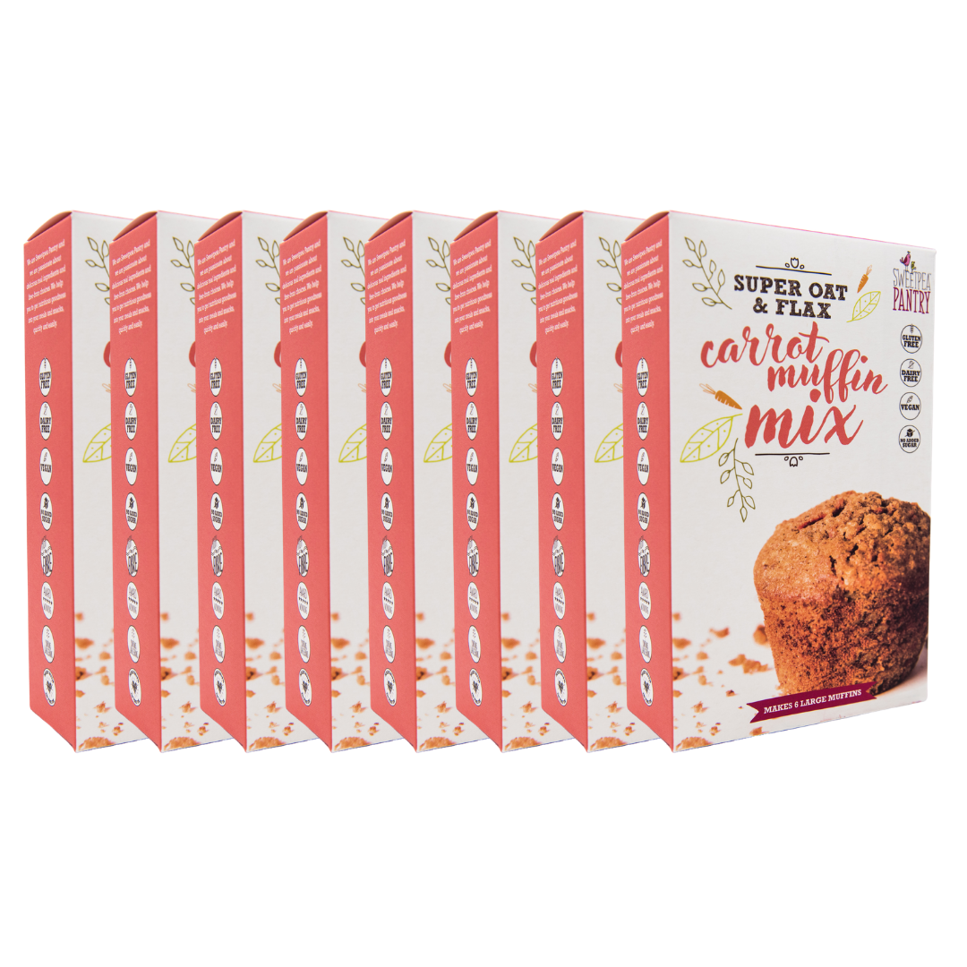 Case of 8 - Carrot Muffin Mix Mix with oats and flax (gluten-free) FREE shipping