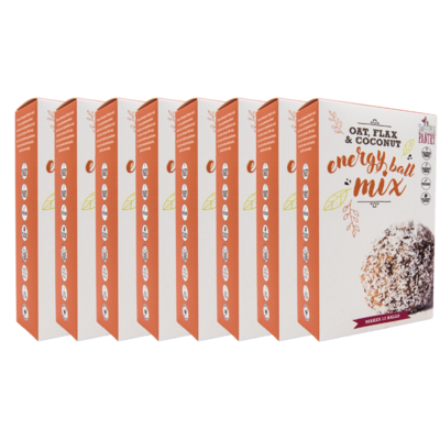 Case of 8 - Energy Ball Mix with oats, coconut and sunflower seeds (gluten free) FREE Shipping