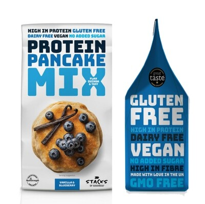 NEW! Stacks of Goodness Vanilla & Blueberry Protein Pancake Mix 200g
