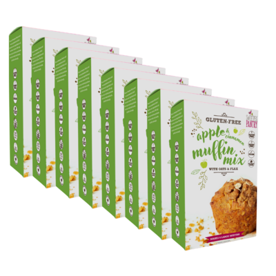 NEW! Case of 8 - Apple and Cinnamon Muffin Mix with oats and flax (gluten-free) FREE Shipping