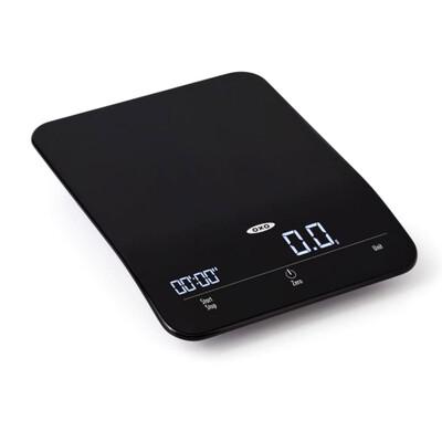 Pesa digital OXO de 6 Lbs. Cronometro incorporado.