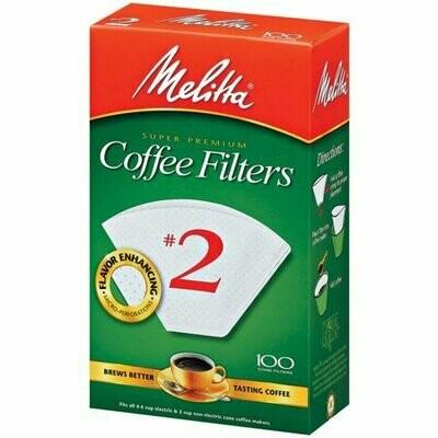 Filtros Melitta #2  caja de 40 Unds.