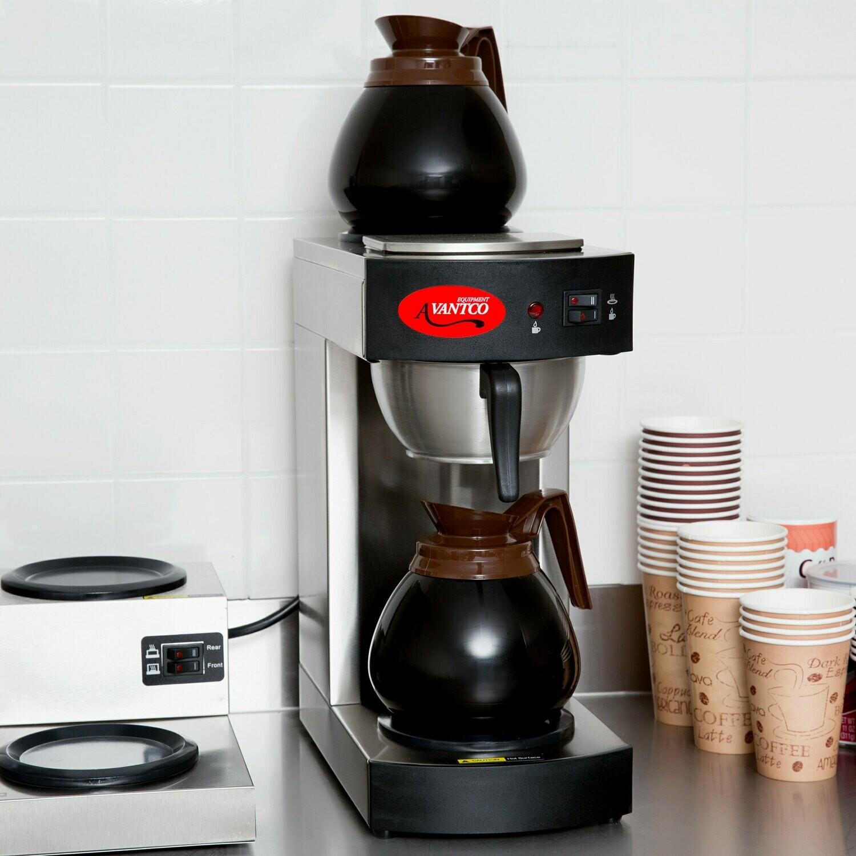 Cafetera comercial Avantco C10 12 tazas (preparar café negro)
