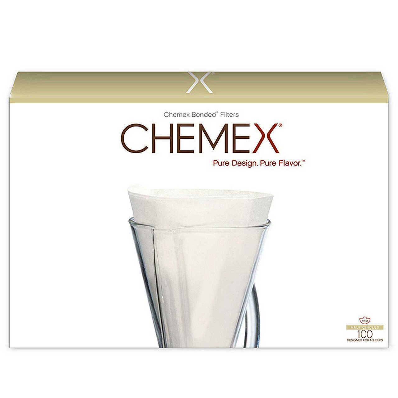 Filtros de Papel para CHEMEX 100 Unds. 1 - 3 tazas.