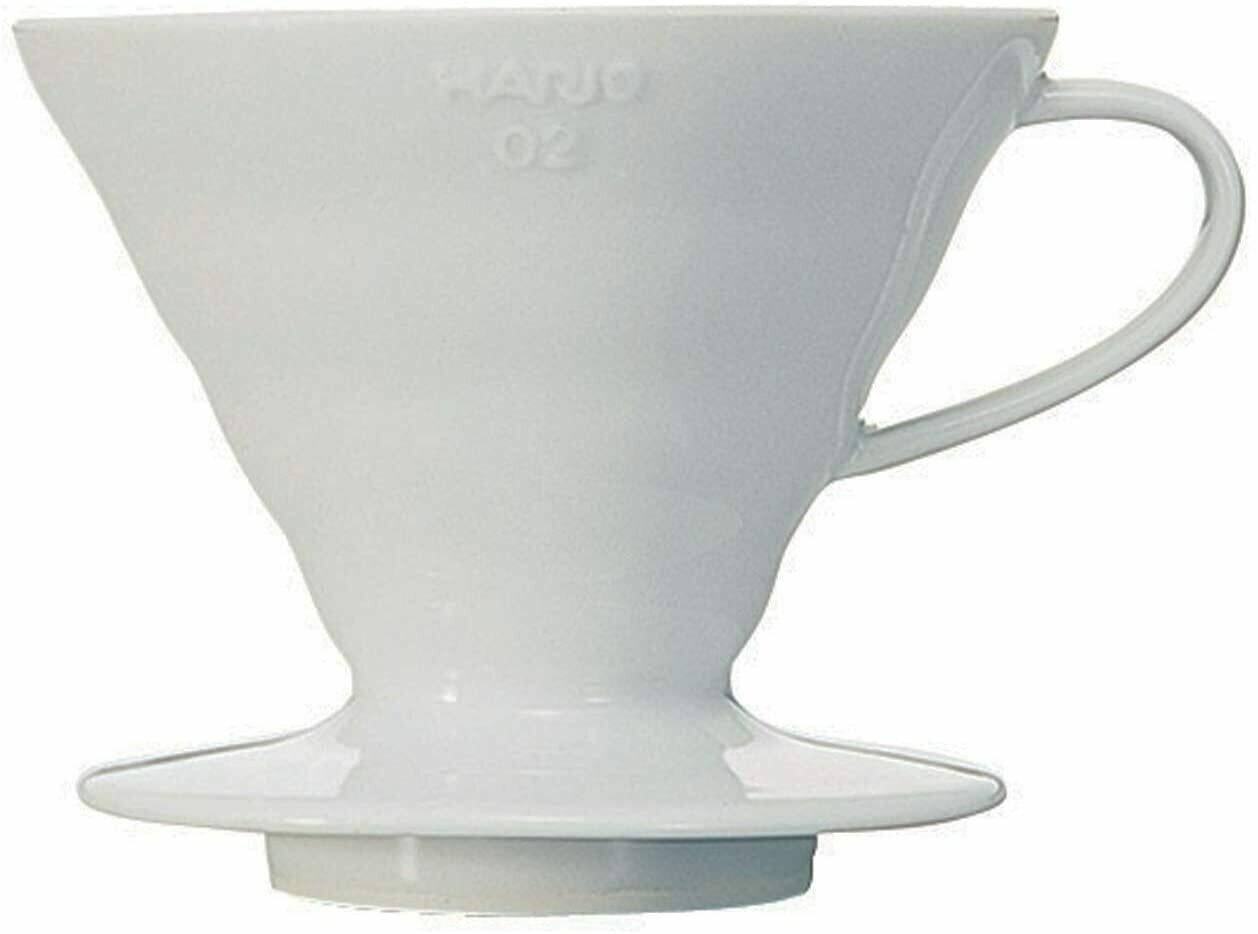 Hario V60 blanca, cerámica, tamaño # 02