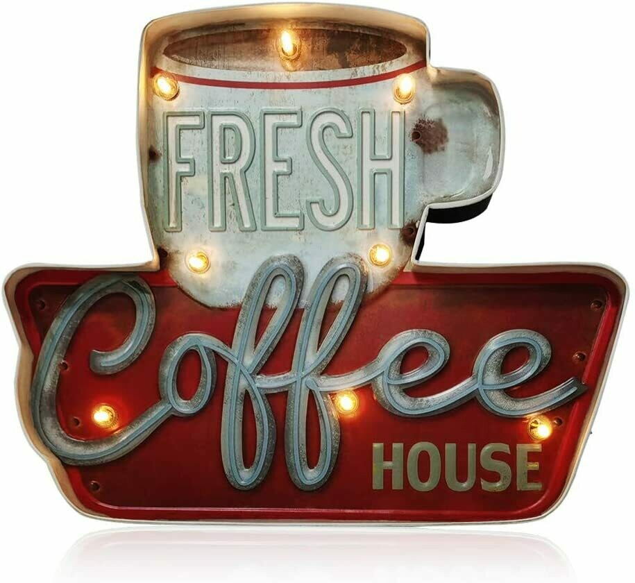 Rotulo de café para pared, estilo vintage