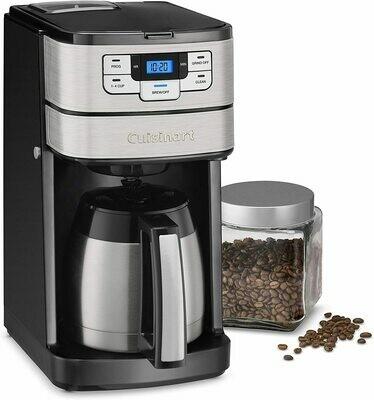 Cuisinart NEW DGB - Cafetera térmica con molino incorporado. jarra de acero inox.