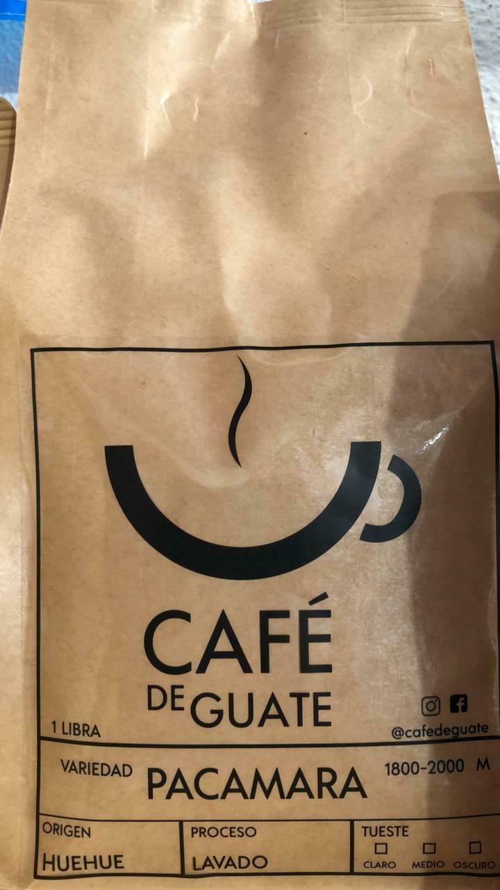 CAFE DE GUATE PACAMARA DE HUEHUETENANGO 454 GRS.