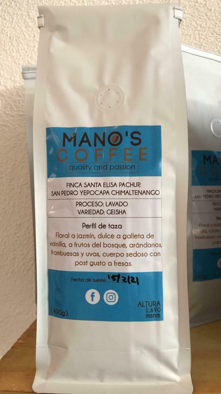 MANO´S COFFEE SANTA ELISA, LAVADO GEISHA