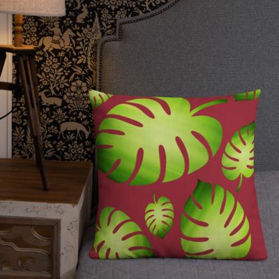 Jungle Leaf Premium Pillow