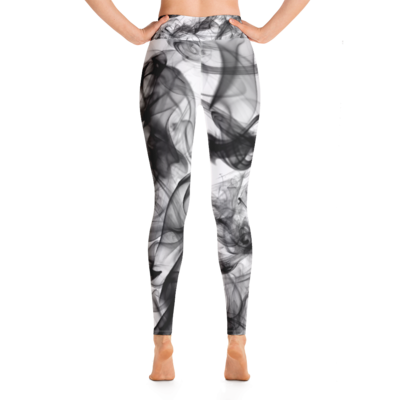Black Smoke Yoga Leggings