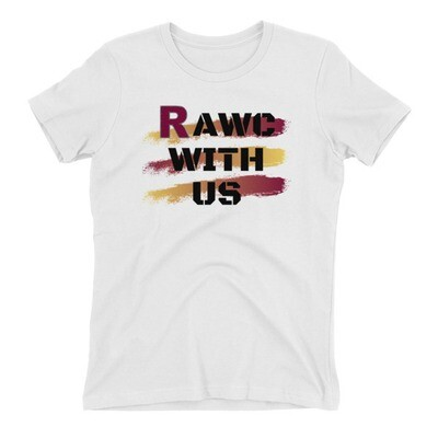 RAWC With Us - Women's Black Font