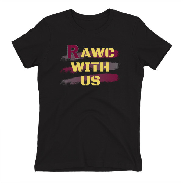 RAWC With Us - Women's Yellow Font
