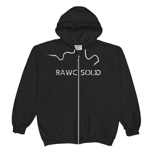 RAWC Solid - Unisex Fleece Lined Zip Hoodie