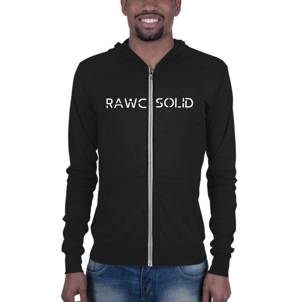 RAWC Solid - Light Unisex zip hoodie